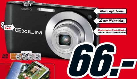 Casio Exilim EX-S200 (14MP Digitalkamera) nur 66€