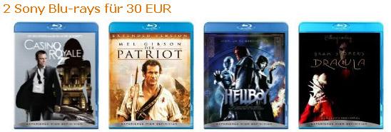 2 Blu-rays für 30€ bei Amazon