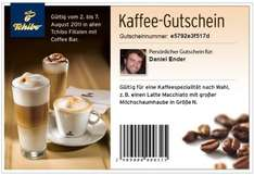 Gratis Kaffee in Tchibo Filialen mit Coffee Bar (Facebook)