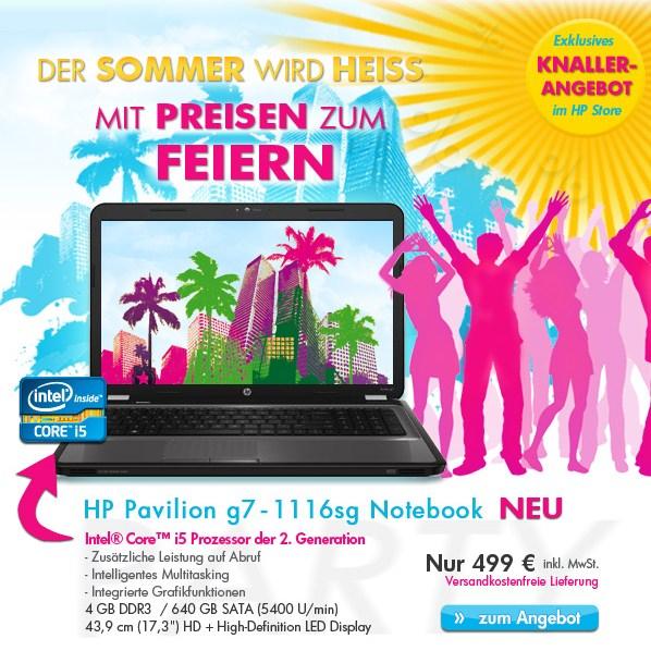 """HP Pavilion g6 und g7 (15.6"""" oder 17.3"""", Core i5-2, 4GB RAM, Radeon HD6470) ab 449€"""