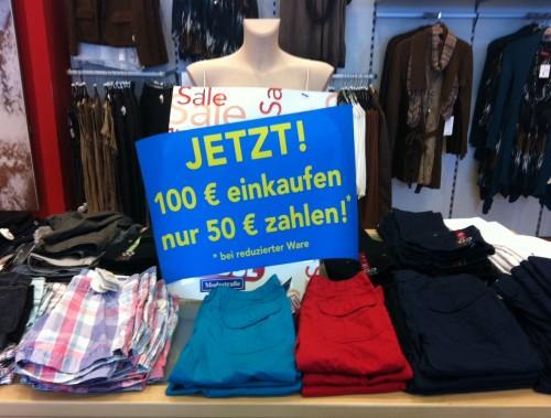 50 Euro Rabatt ab einem Einkauf von 100 Euro bei Fussl