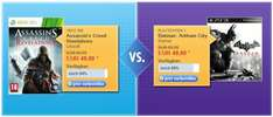 Bol.de Battle - Assassin's Creed (X360) für 49€ vs. Batman Arkham City (PS3) für 49€