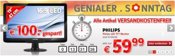 """Philips 192E2SB - einfacher 18.5"""" LED-Monitor für nur 51€!"""
