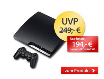 Playstation 3 160GB für 194 Euro statt 227 Euro