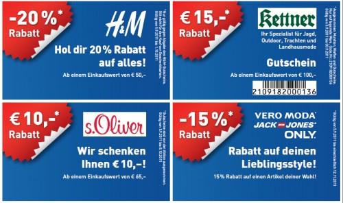 SCS Herbstgutscheine - Rabatte für 70 Shops in der Shopping City Süd