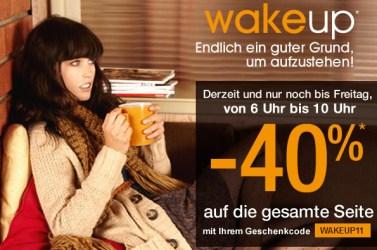 Morgen von 6 Uhr bis 10 Uhr: 40% Rabatt bei Pimkie!