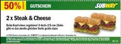 """Subway-Gutscheine: """"2 zum Preis von 1"""" und mehr..."""