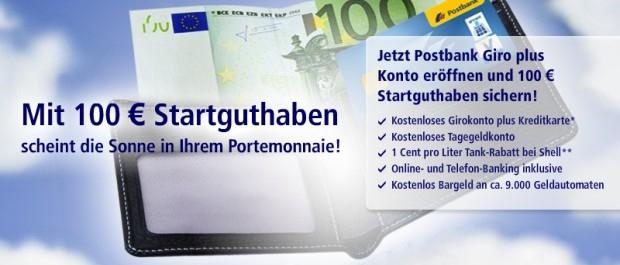 Wow! Postbank Girokonto für 0,00€ bzw. 5,90€ mtl. + 100€ Startguthaben! *Update*