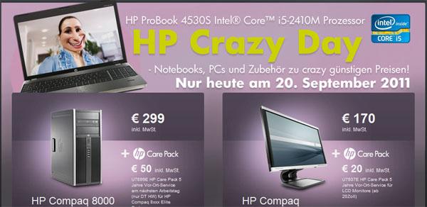 HP Crazy Day (20.09.2011) - Schnäppchencheck