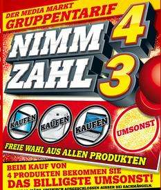 Der Media Markt Gruppentarif - Nimm 4 Zahl 3