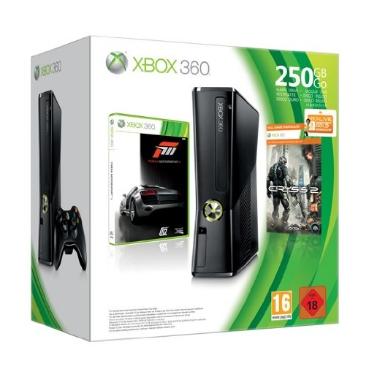 Amazon: Xbox 360 250GB Konsole + Forza 3 + Crysis 2 für 229,95€ oder XBox 360 250 GB für 199€ bei MeinPaket