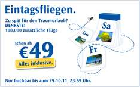 """Condor Eintagsfliegen"" z.B. Frankfurt - Dubai ab 198€, Frankfurt - Las Vegas ab 438€, Frankfurt - Sri Lanka ab 348€"