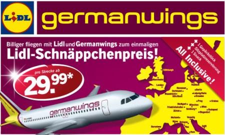 Germanwings Flüge ab 29,99€ inkl. Servicepaket (Gepäck, Snack, Best-Seat)