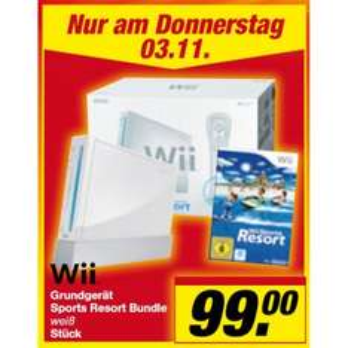 Top! Nintendo Wii für 99€ statt 134€ bei Toom (nur am 3. November)!