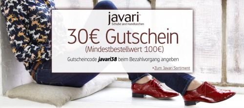30 Euro Javari Gutschein ab 100 Euro Bestellwert