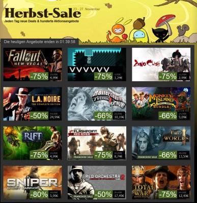 Steam Herbst-Sale: Jeden Tag neue Deals - L.A. Noire für 24,99 Euro und mehr