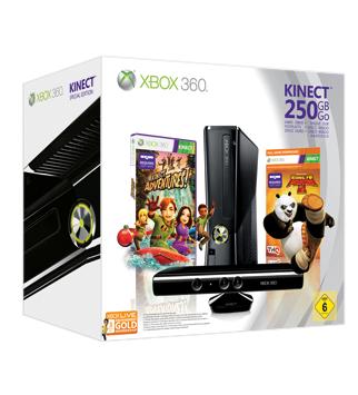 Xbox 360 250 GB + Kinect Bundle inkl. Kung Fu Panda / XBOX Live GOLD für 254€