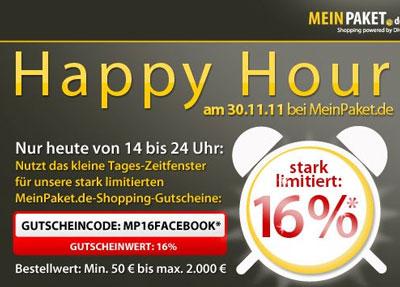 16% MeinPaket Gutschein - Nur heute gültig