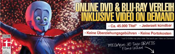 3 Monate Lovefilm Flatrate 1 Paket für 9,99 Euro - auch für Bestandskunden