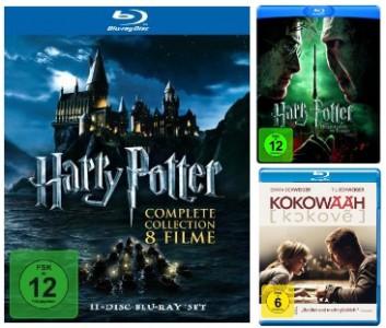 Harry Potter Komplettbox auf Blu-ray für 59€ und Kokowääh Blu-ray für 7€