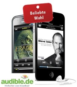 Kostenloses Hörbuch nach Wahl bei Audible (u.a.Steve Jobs Biografie und 50.000 weitere Titel)