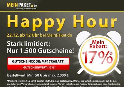 17% MeinPaket Gutschein auf das gesamte Sortiment