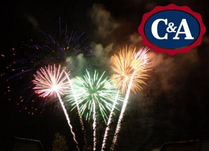 50% Rabatt auf Feuerwerk am 31.12. bei C&A