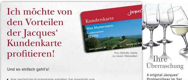 4 kostenlose Jacques Wein Probiergläser