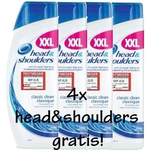 100% Cashback: 4x 500ml head&shoulders komplett kostenlos! *Update*