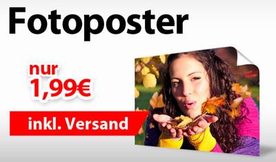 Fotoposter (30x45 cm) für 1,99€ bei myprinting.de