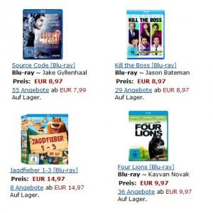 3 Tages Aktion bei Amazon - viele Blu-rays und DVDs günstiger