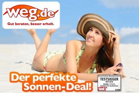 90 € weg.de-Gutschein für 9 € - nur für Pauschal- und Last-Minute-Reisen