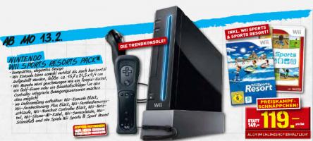 Nintendo Wii Sports Resort Pack für 119 € bei Penny - ab 13. Februar