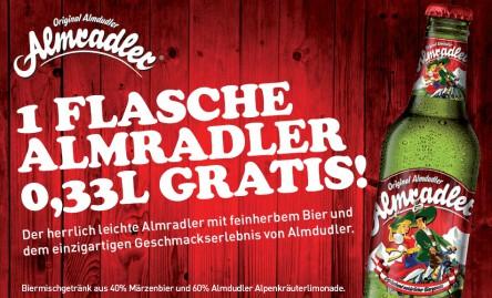 Gratis Almradler (1 Flasche) bei Spar bis 30.04.2012!