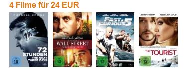 4-für-3-Aktion für DVDs und Blu-rays bei Müller und Konter von Amazon