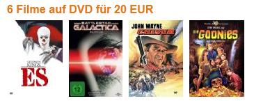 Amazon: DVD- und Blu-ray-Angebote - z.B. 3 Blu-rays für 21 €
