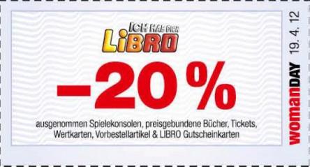 20% sparen auf alles bei Libro - auch auf Mobiltelefone!