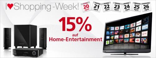Heute wieder 15% Rabatt auf Home-Entertainment bei Neckermann