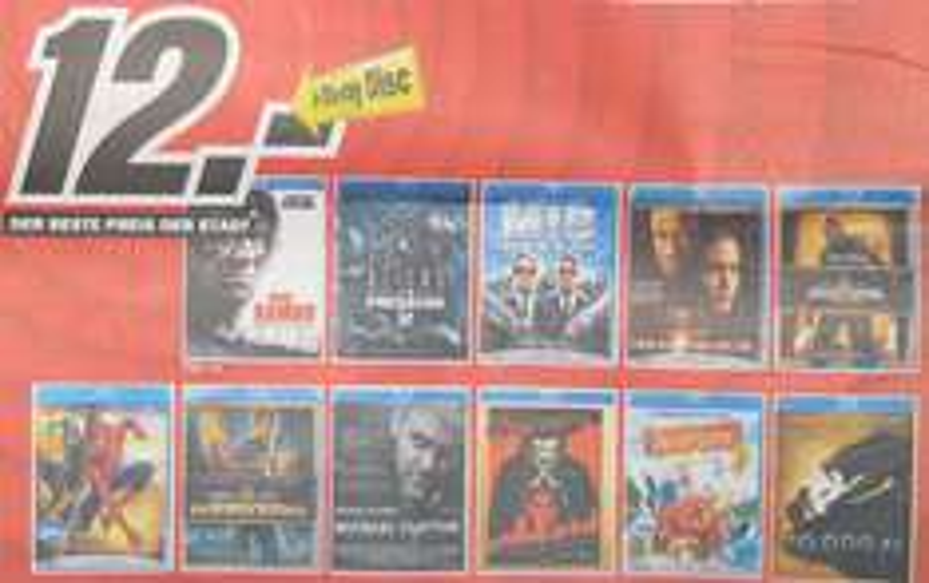 [Blu-ray] Blu-rays für 12€ im Media Markt Konstanz