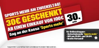 30 Euro Sports Experts Gutschein und gratis Versand