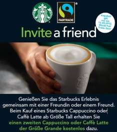 Coupons: Pizzamann 1 + 1 gratis & Starbucks 1 + 1 gratis