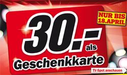 30€ Jubiläums-Prämie bei Media Markt