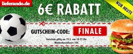 6 Euro Lieferando Gutschein - auch für Bestandskunden!