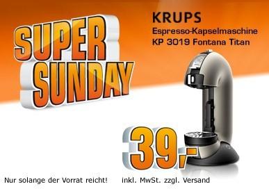 Krups Nescafe Dolce Gusto Fontana für 39€ statt 82€ *Update* Nespresso Essenza für effektiv 19€!
