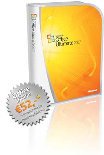 Microsoft Office Ultimate 2007 für 52€
