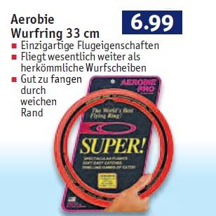 Aerobie Pro Wurfring 33cm (der am weitesten von Menschenhand geworfene Gegenstand) für 7€ bei Rossmann