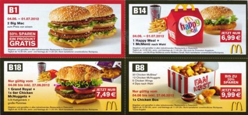 Neue McDonald's Gutscheine für Österreich – ab 04.06.2012 gültig *Update*