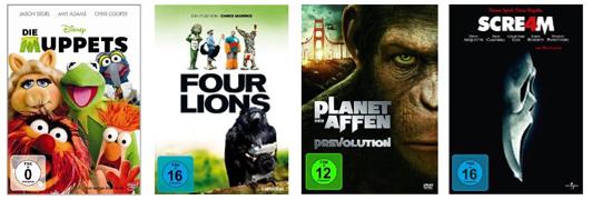 Film- und Serien-Angebote bei Media Markt & Konter von Amazon - z.B. Blu-rays ab 6,66 €