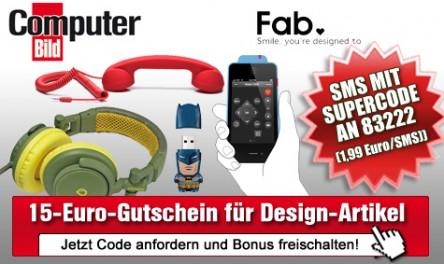 15 € Gutschein für den Shoppingclub Fab.de für 1,99 € - ohne Mindestbestellwert