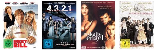 DVD- und Blu-ray-Schnäppchen bei Amazon - z.B. 2 Blu-rays für 18 € oder 4 DVDs für 20 €